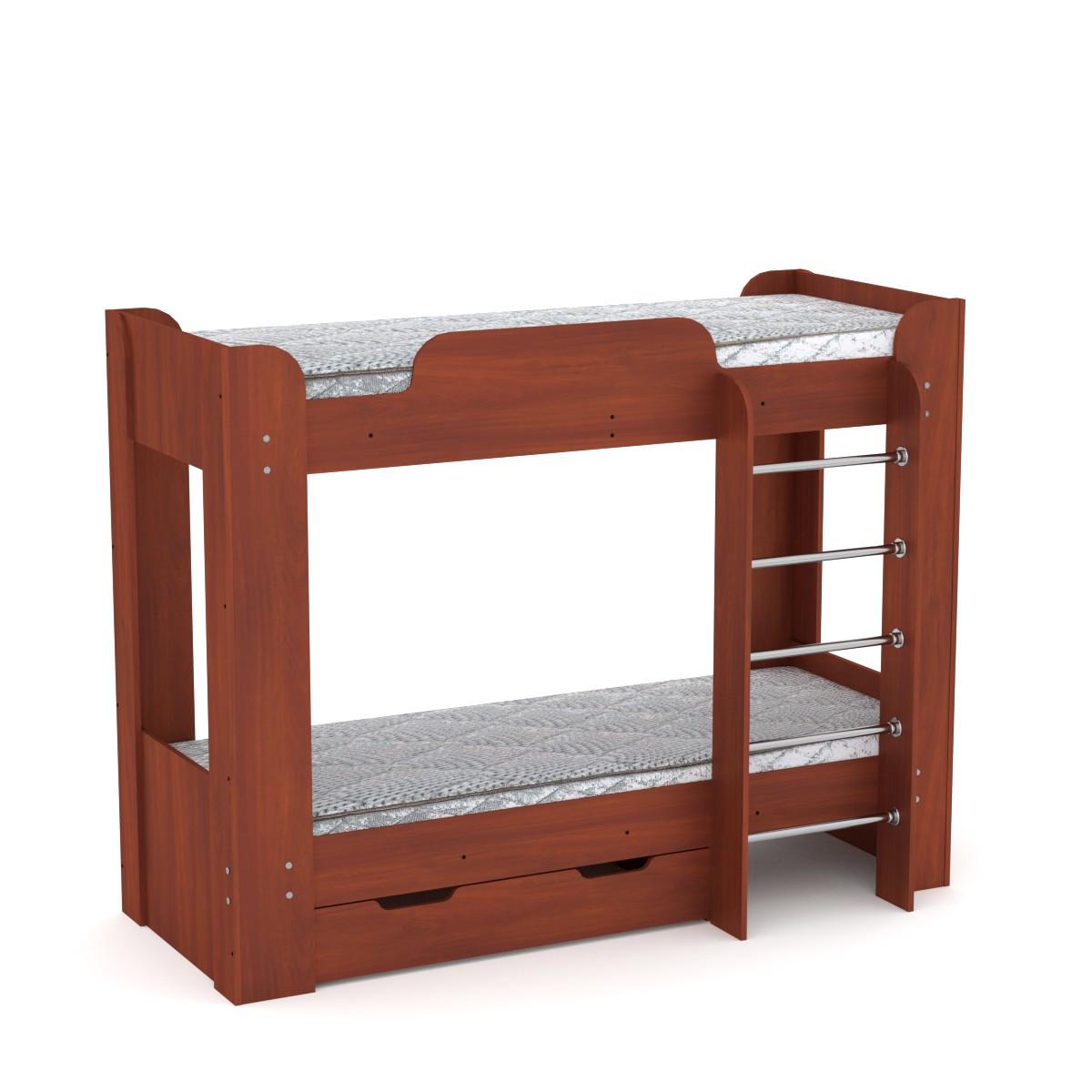 Кровать с матрасами двухъярусная Твикс-2 яблоня Компанит
