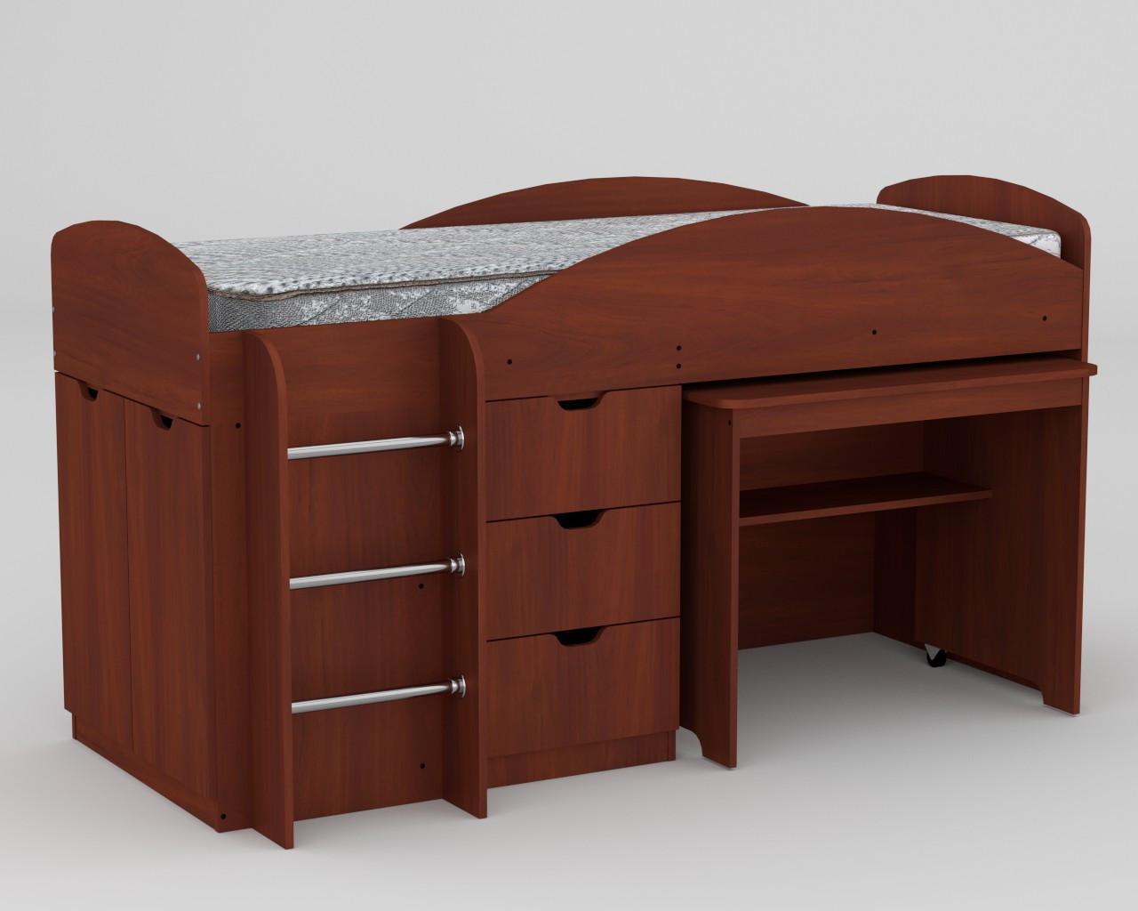 Кровать с матрасом ЭКО-52 Универсал яблоня компанит (194х89х106 см)