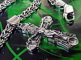 Срібна цепочка з хрестиком, фото 3