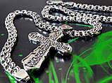 Срібна цепочка з хрестиком, фото 6