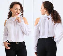 """Блуза шифоновая с бантом """"Jardin"""", фото 3"""