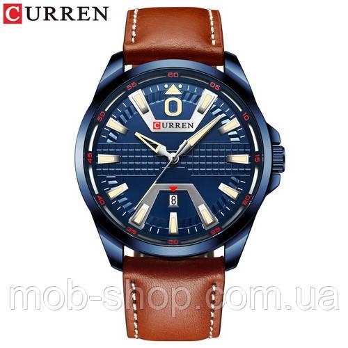 Наручные часы Curren 8379 Blue-Brown Оригинал годовая гарантия на механизм