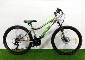 """Підлітковий гірський велосипед Azimut Forest 24 розмір рами 12,5"""" GD GREY"""