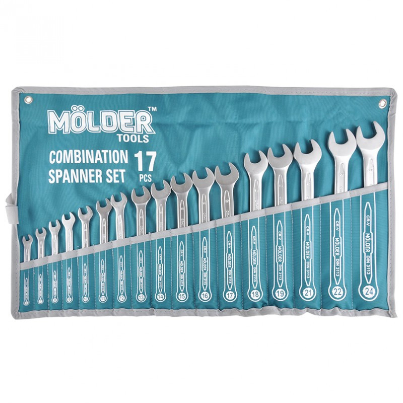Набір ключів комбінованих MOLDER CR-V 17 шт (6-24 мм) MT58117