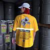 Жёлтая футболка NASA Mombert (наса со светоотражающей полоской мужская женская), фото 5