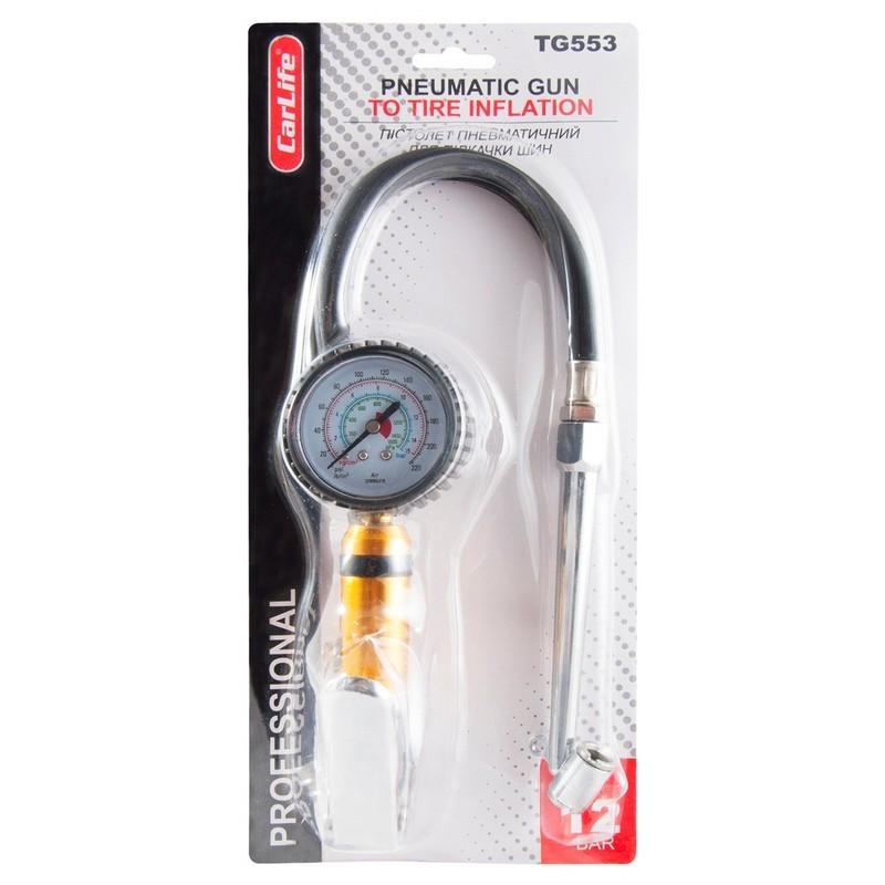Пневмопистолет для подкачки шин CarLife 12Bar TG553