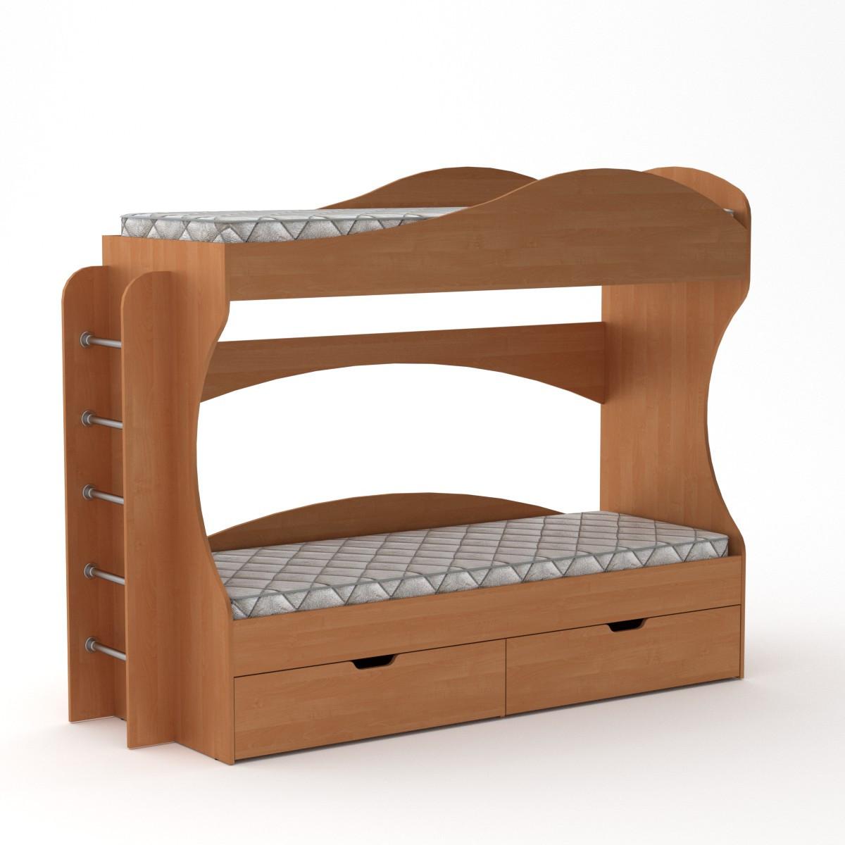 Кровать двухъярусная Бриз ольха Компанит