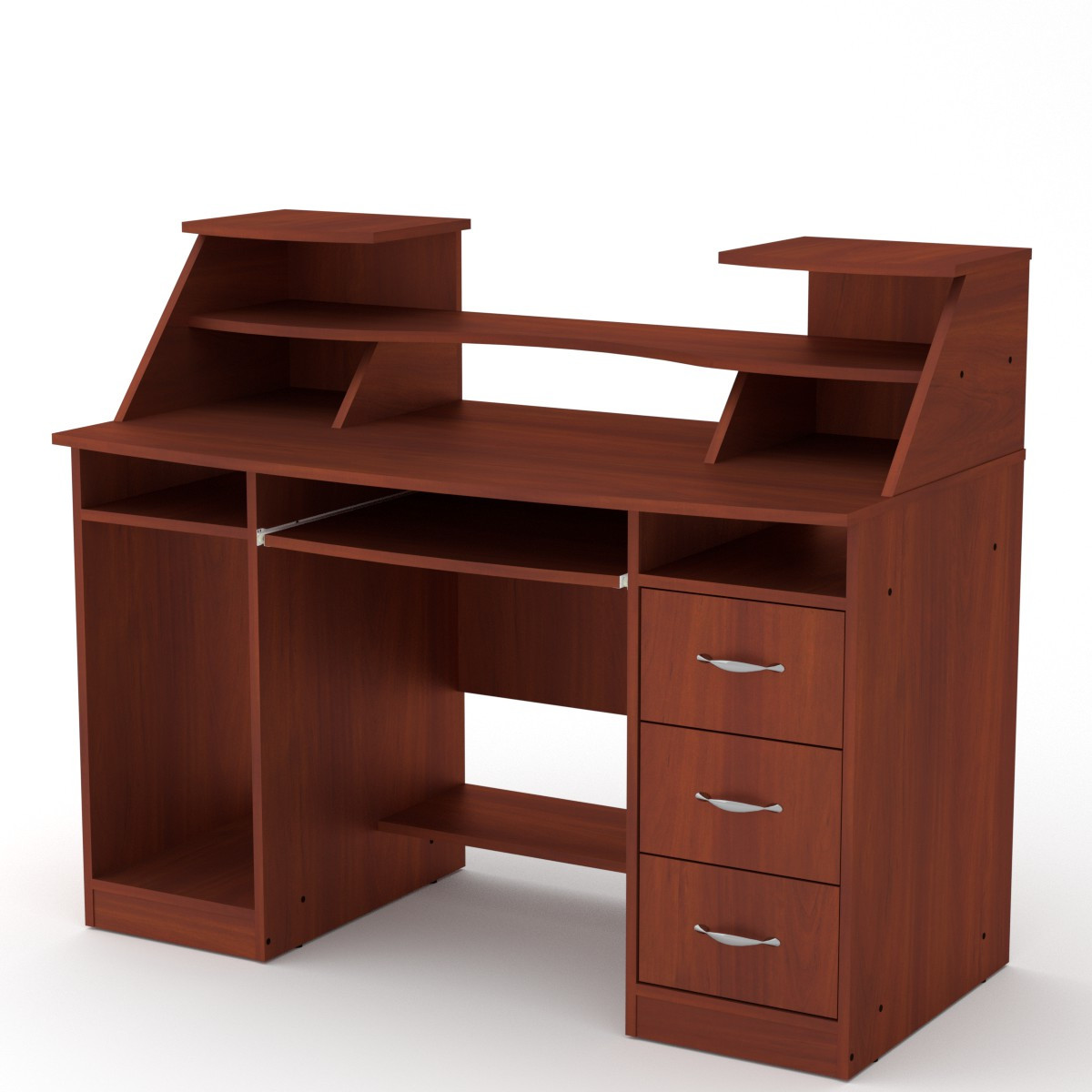 Стол компьютерный Комфорт-5 яблоня Компанит (127х65х104 см)