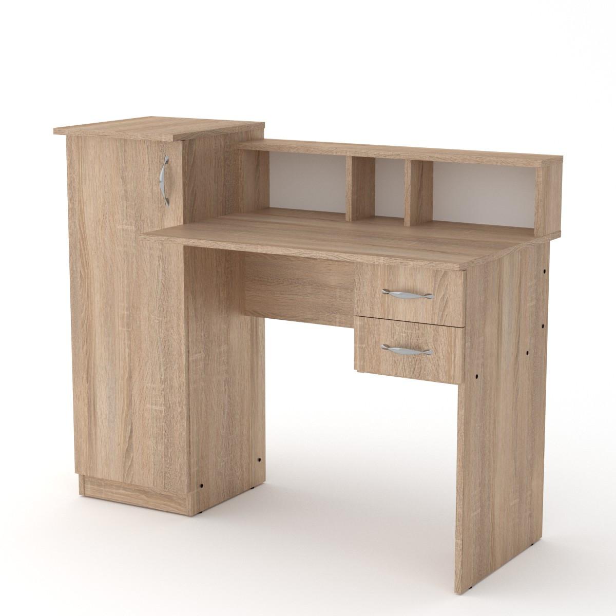 Стол письменный пи пи-1 дуб сонома Компанит (118х55х96 см)