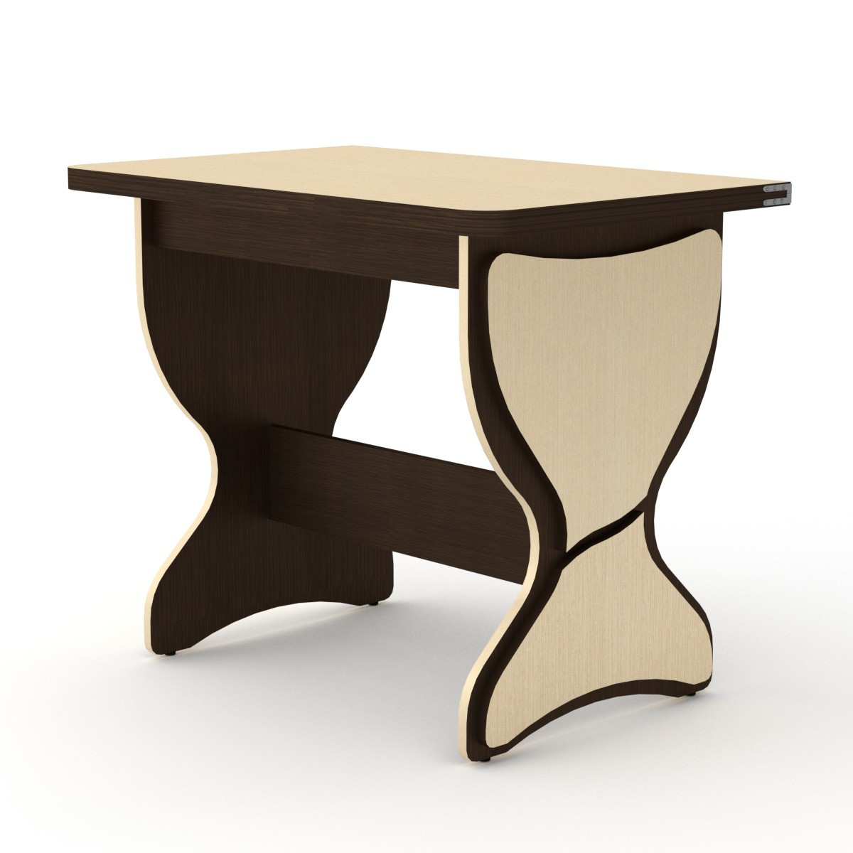 Стол кухонный КС-4 венге комби Компанит (90х59х73 см)