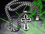 Серебряная цепочка и крестик с ониксом, фото 4