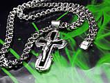 Серебряная цепочка и крестик с ониксом, фото 5