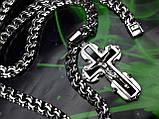 Серебряная цепочка и крестик с ониксом, фото 6