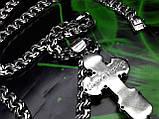 Серебряная цепочка и крестик с ониксом, фото 7