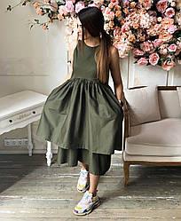 Весеннее женское платье-сарафан