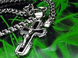 Серебряная цепочка и крестик с ониксом, фото 8