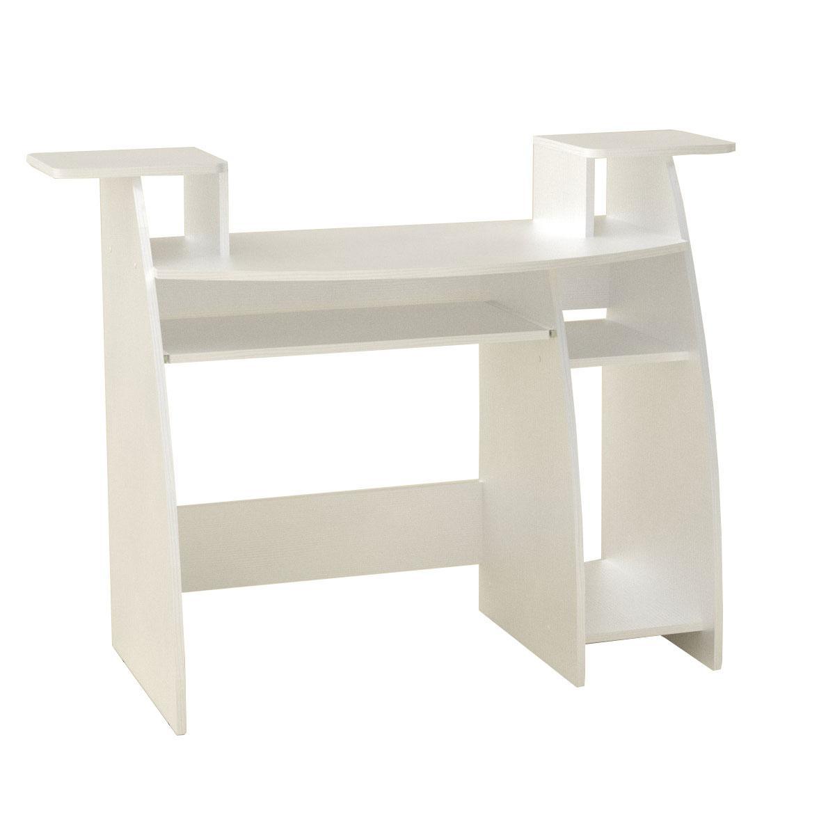 Стол компьютерный СКМ-4 белый Компанит (123х50х92 см)