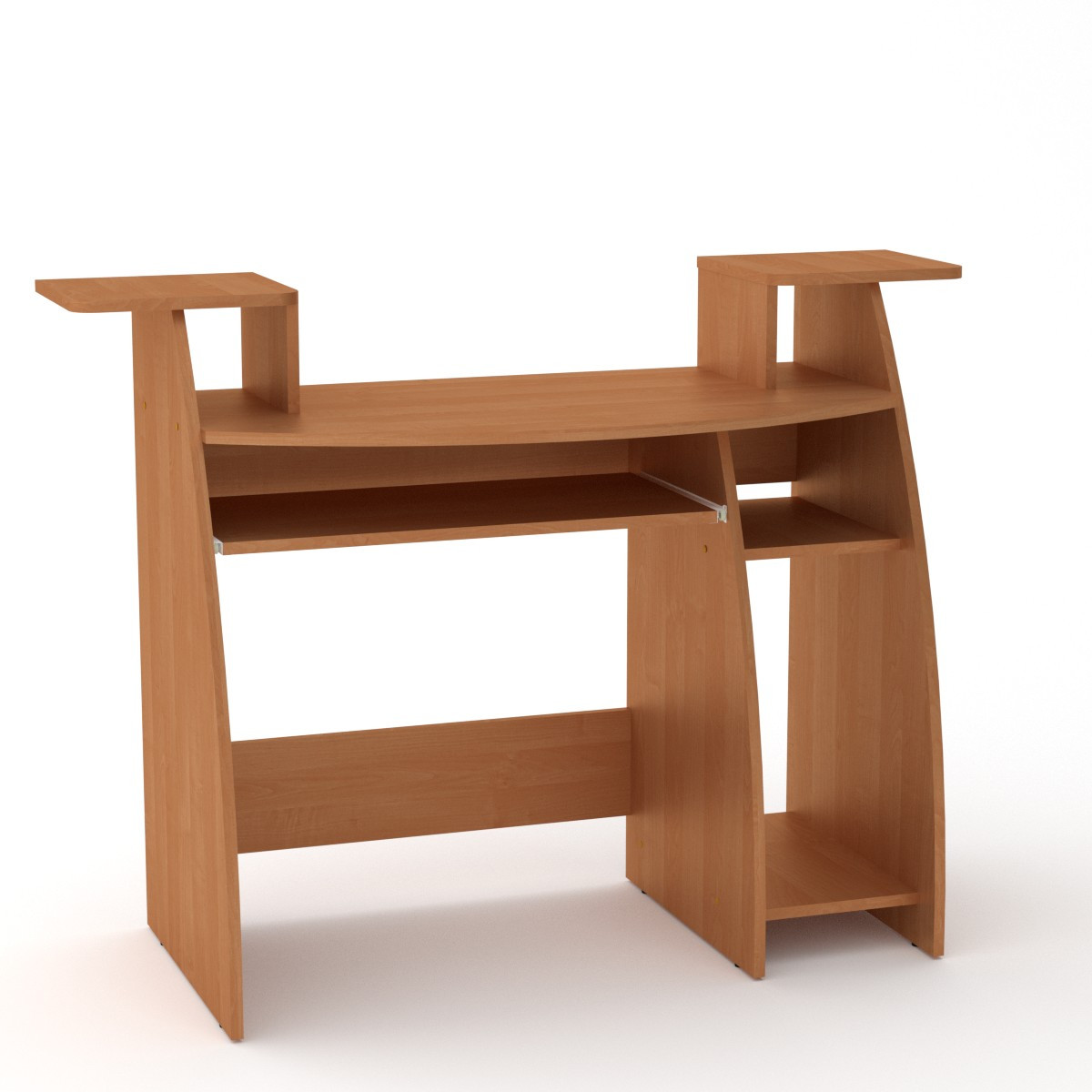 Стол компьютерный СКМ-4 ольха Компанит (123х50х92 см)