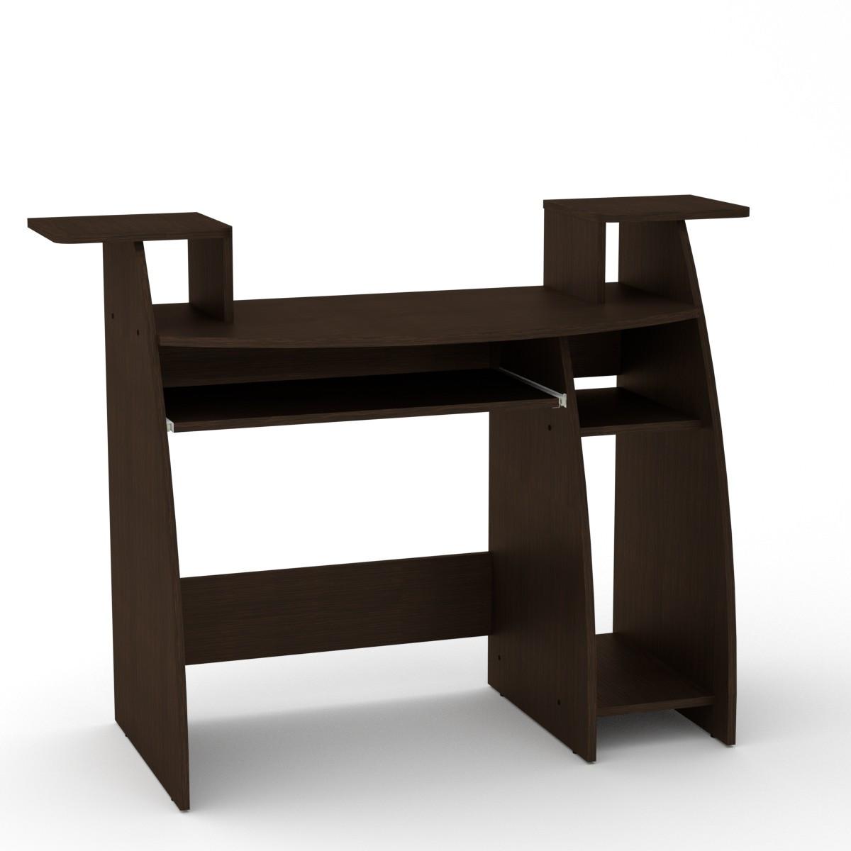 Стол компьютерный СКМ-4 венге темный Компанит (123х50х92 см)