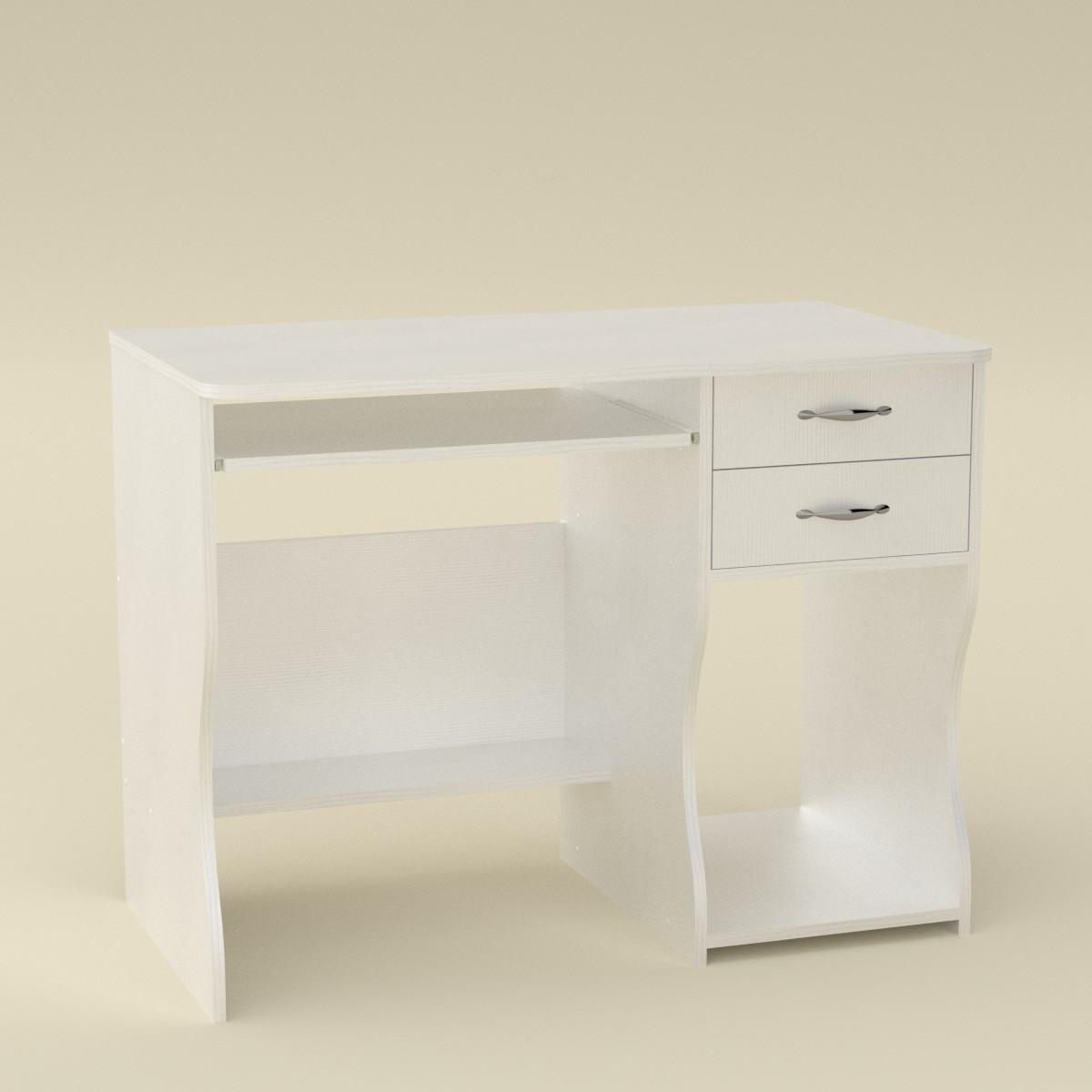Стол компьютерный СКМ-7 белый Компанит (100х55х77 см)