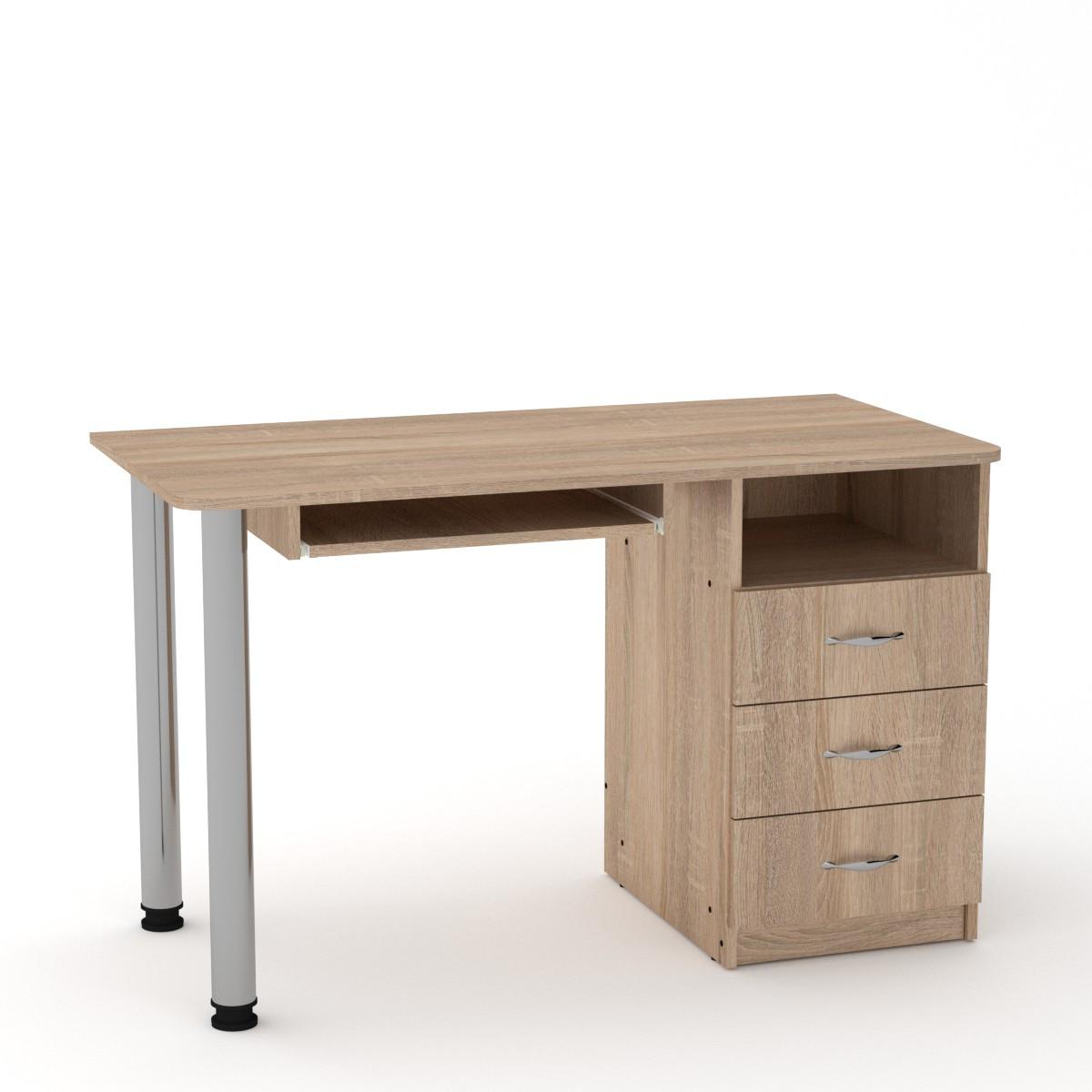 Стол письменный СКМ-9 дуб сонома Компанит (120х60х74 см)