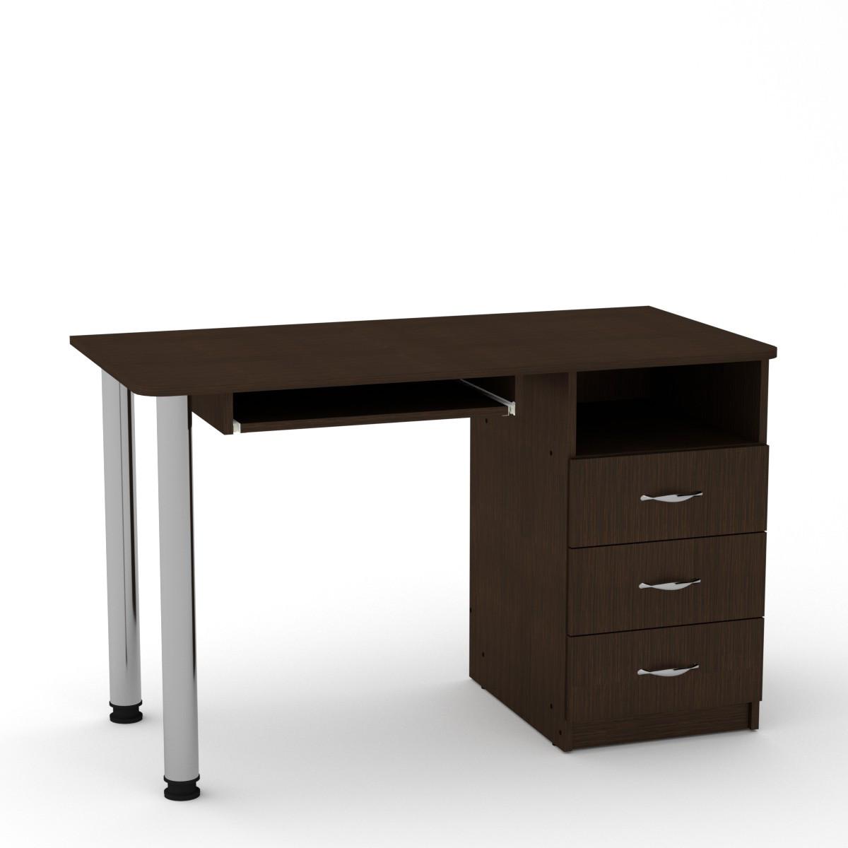 Стол письменный СКМ-9 венге темный Компанит (120х60х74 см)
