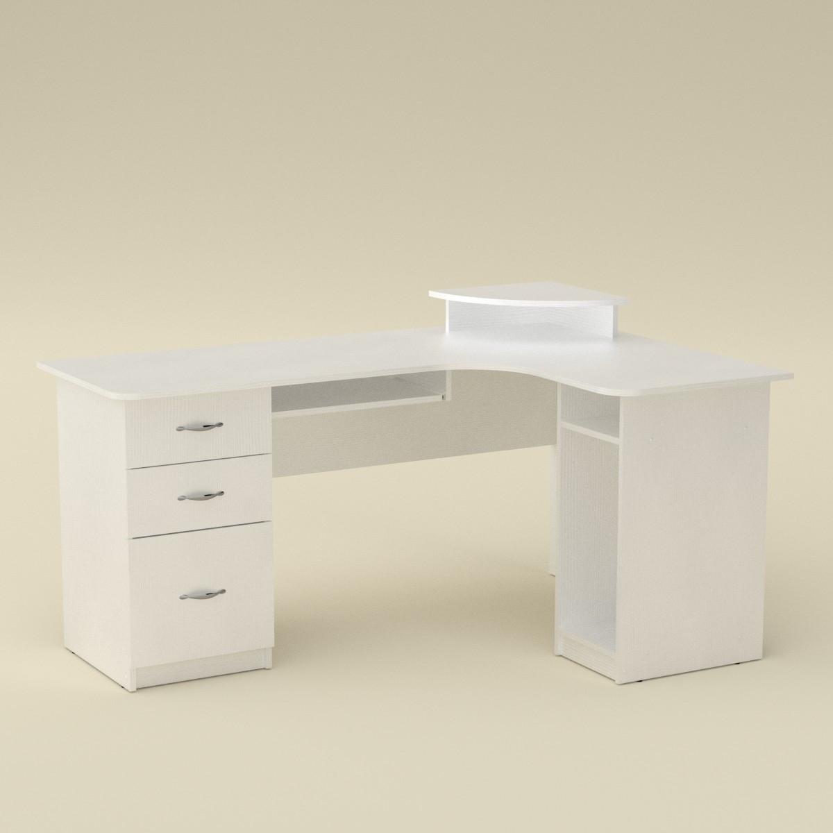 Стол компьютерный СУ-3 белый Компанит (160х110х87 см)