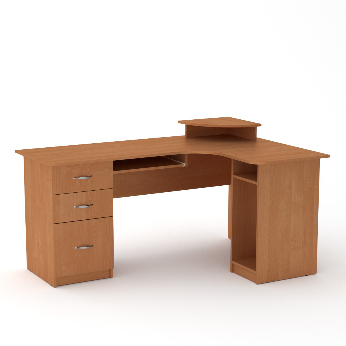 Стол компьютерный СУ-3 ольха Компанит (160х110х87 см)