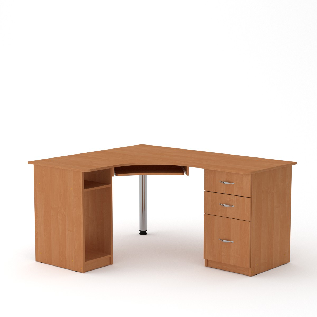 Стол компьютерный СУ-9 ольха Компанит (150х125х74 см)