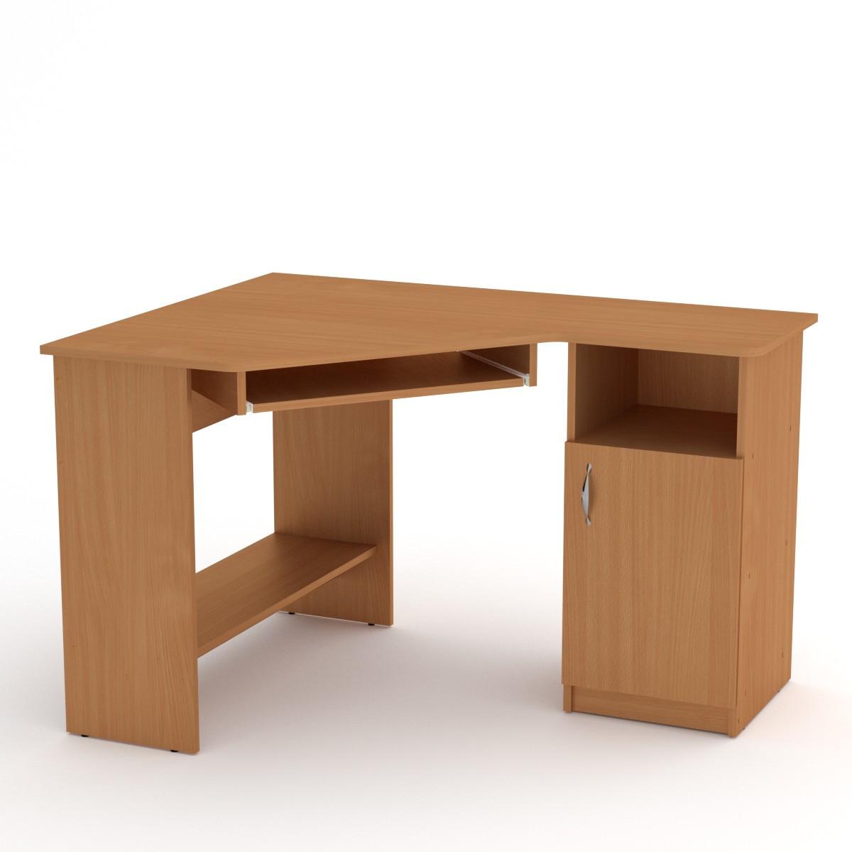 Стол компьютерный СУ-13 бук Компанит (120х90х75 см)