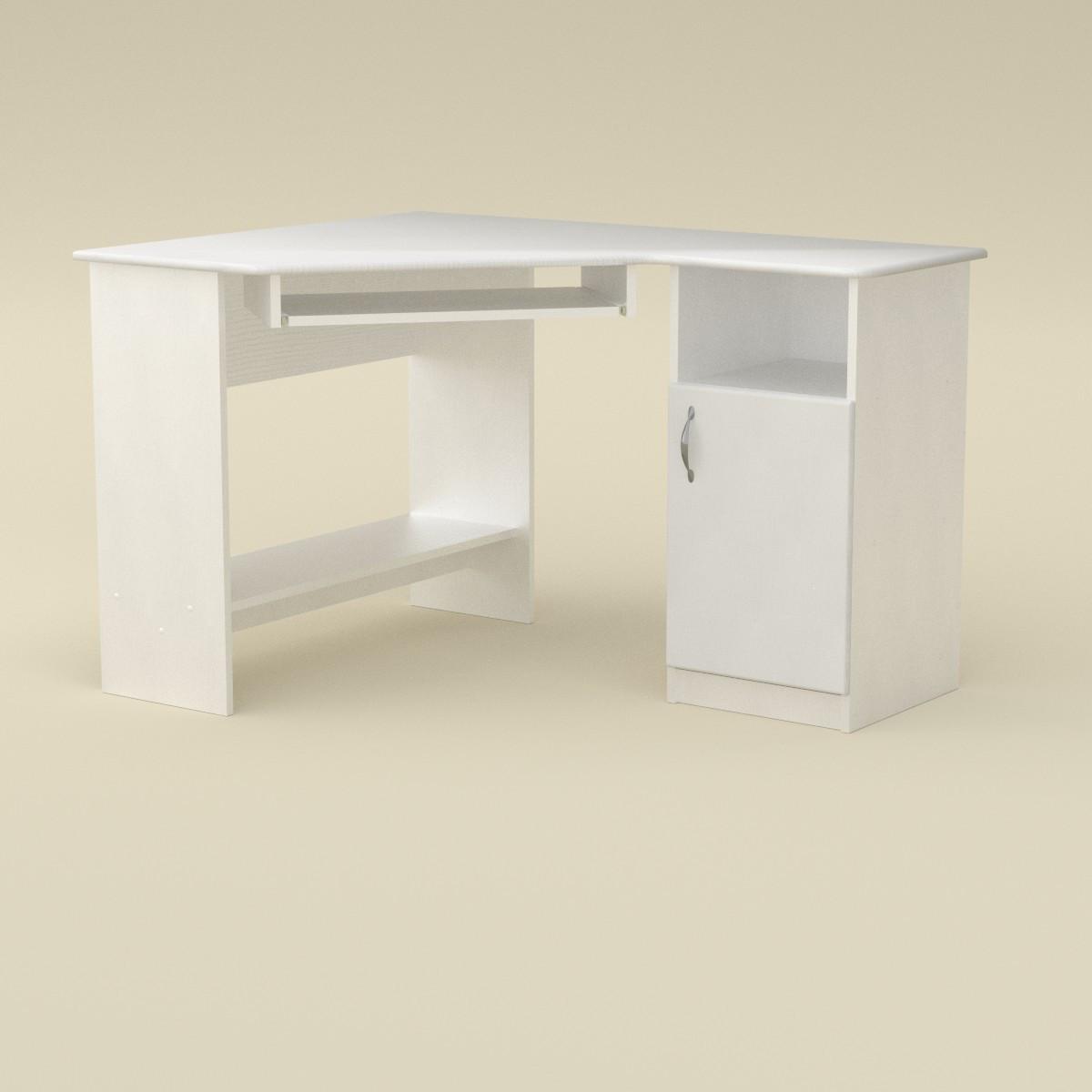 Стол компьютерный СУ-13 МДФ белый Компанит (120х90х75 см)