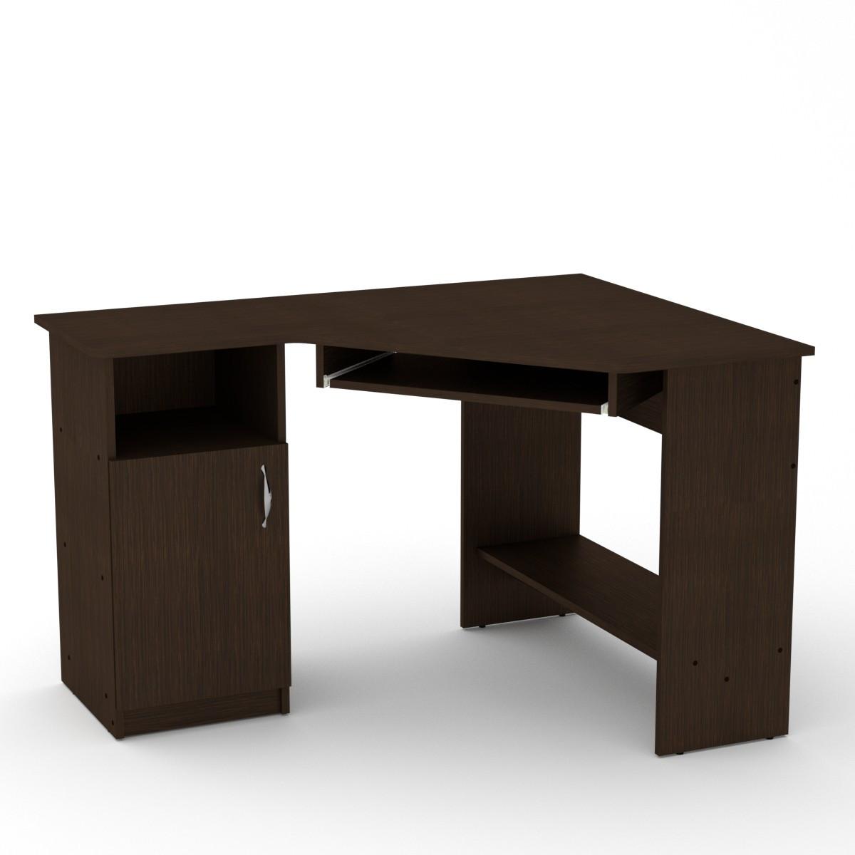 Стол письменный СУ-14 венге темный Компанит (120х90х75 см)