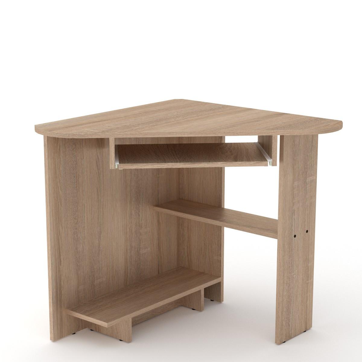 Стол письменный СУ-15 дуб сонома Компанит (76х76х74 см)