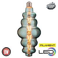 Светодиодная филаментная лампа ORIGAMI 8W 2200К TITANIUM HOROZ