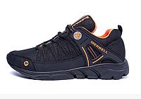 Мужские летние кроссовки сетка Merrell black черные, фото 1