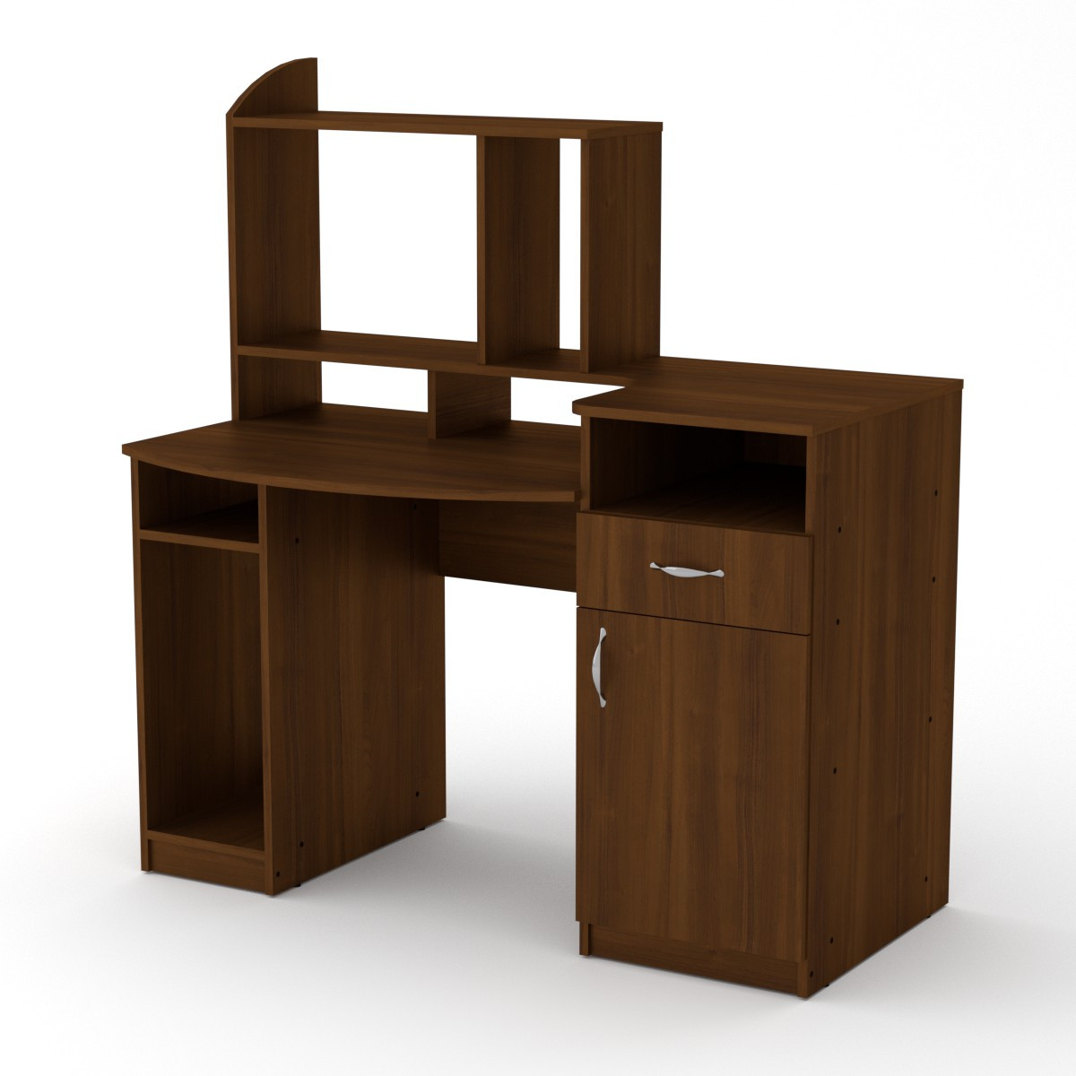 Стол компьютерный Комфорт-2 орех экко Компанит (129х70х139 см)