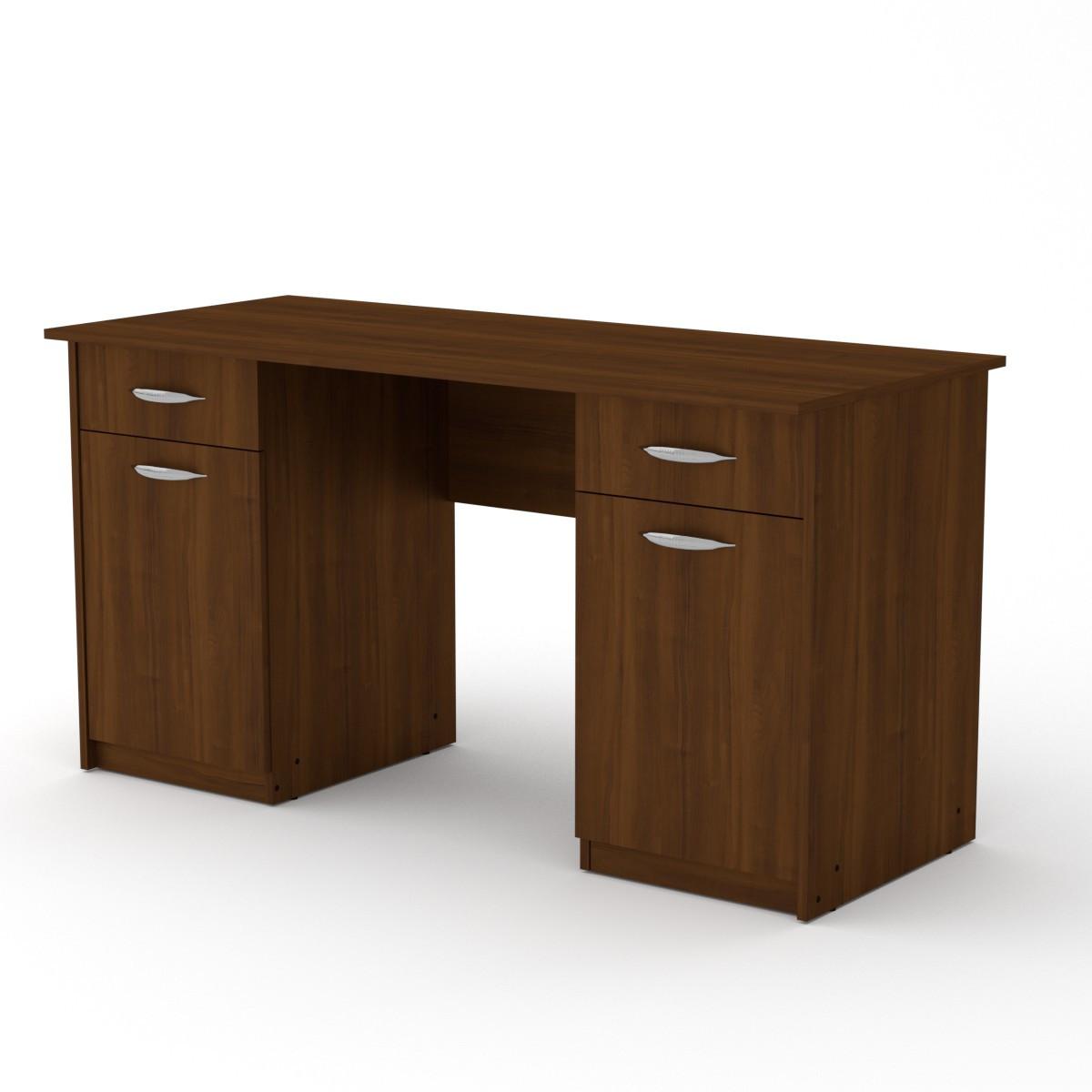 Стол письменный Учитель-2 орех экко Компанит (140х60х74 см)