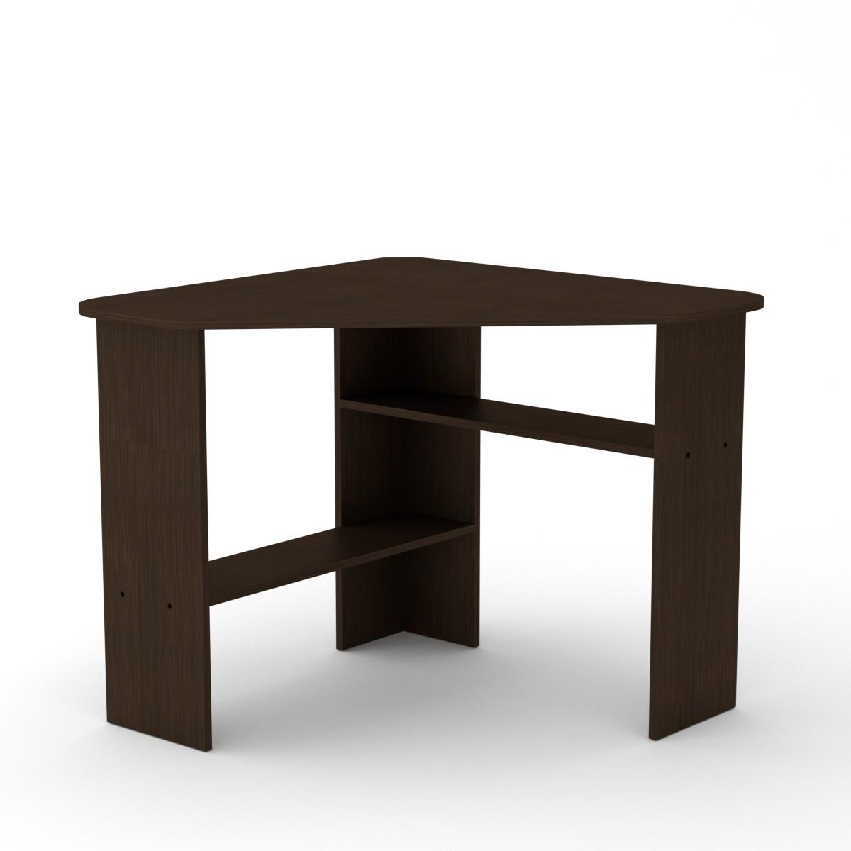 Стол письменный ученик-2 венге темный Компанит (90х90х75 см)