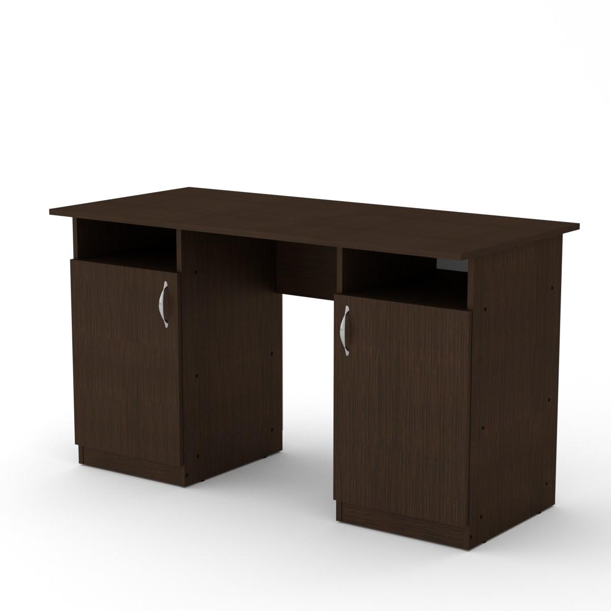 Стол письменный Учитель (кромка АБС - 2 мм) венге темный Компанит (130х60х74 см)