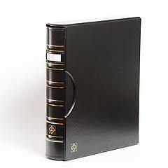 Альбом Leuchtturm, GRANDE для монет в холдерах или банкнот, с футляром,окошком,черный