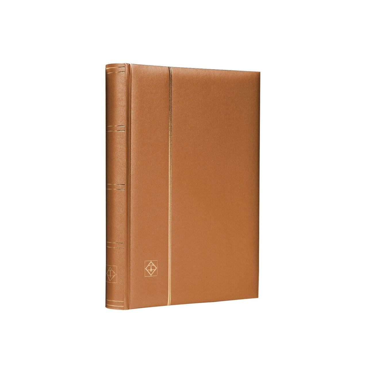 """Альбом Leuchtturm для марок (кляссер) COMFORT """"Metallic Edition"""" с 32 листами из черного картона, мягкая обложка, А4, цвет бронза"""