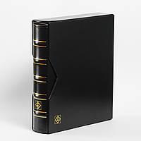 Альбом для монет Leuchtturm, OPTIMA c футляром на 304 монеты, черный
