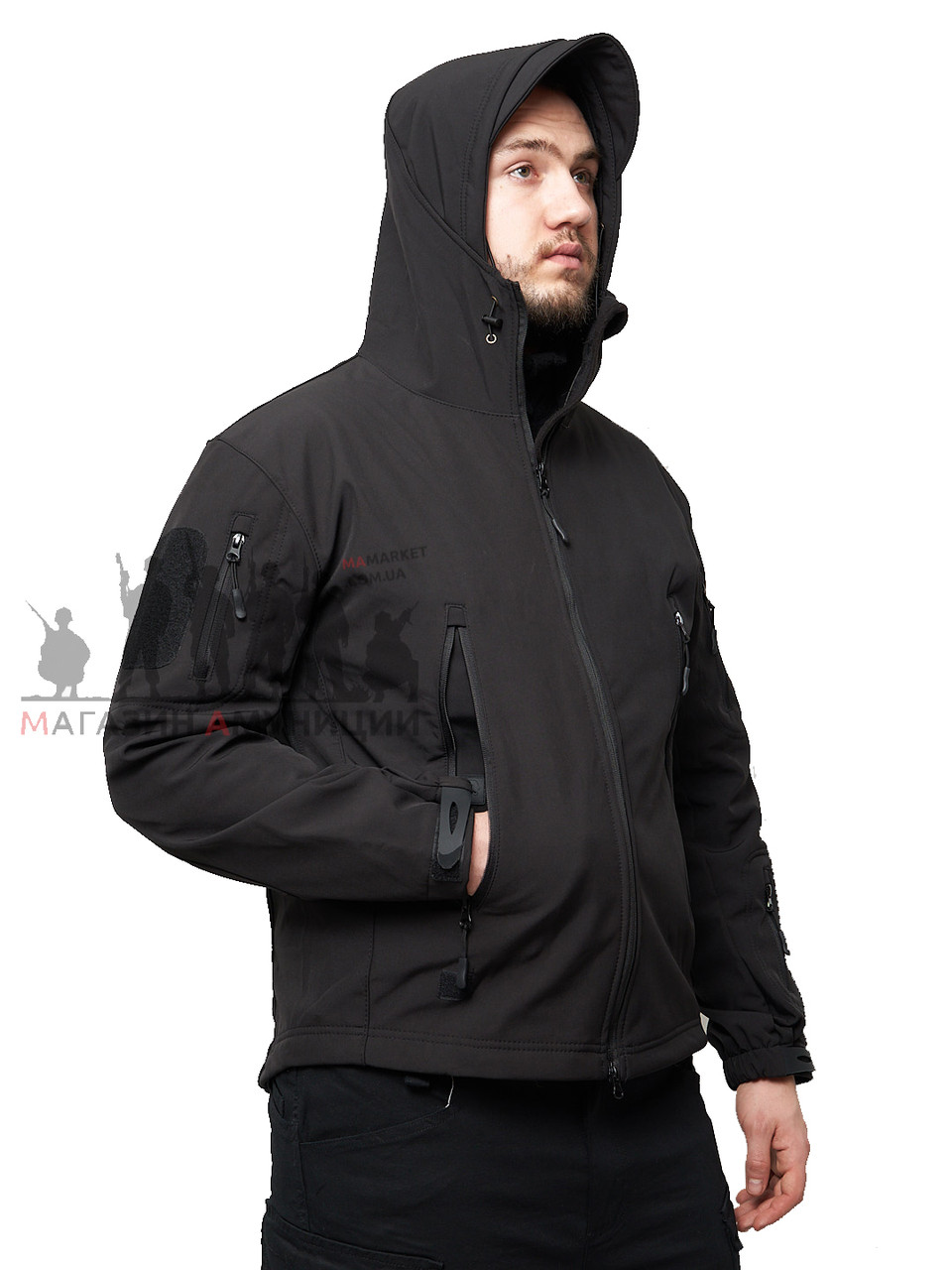 Куртка тактична Softshell Shark Skin 01. ESDY. Чорна L