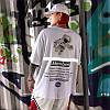 Біла футболка NASA Mombert (наса зі світловідбиваючою смужкою чоловіча жіноча), фото 6