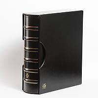 Альбом Leuchtturm, GRANDE GIGANT для монет в холдерах или банкнот, с футляром, черный