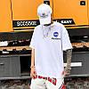 Біла футболка NASA Mombert (наса зі світловідбиваючою смужкою чоловіча жіноча), фото 8