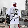 Біла футболка NASA Mombert (наса зі світловідбиваючою смужкою чоловіча жіноча), фото 7