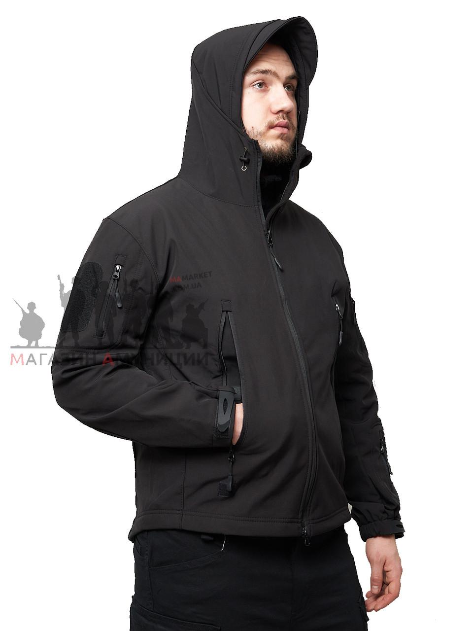 Куртка тактична Softshell Shark Skin 01. ESDY. Чорна 4XL