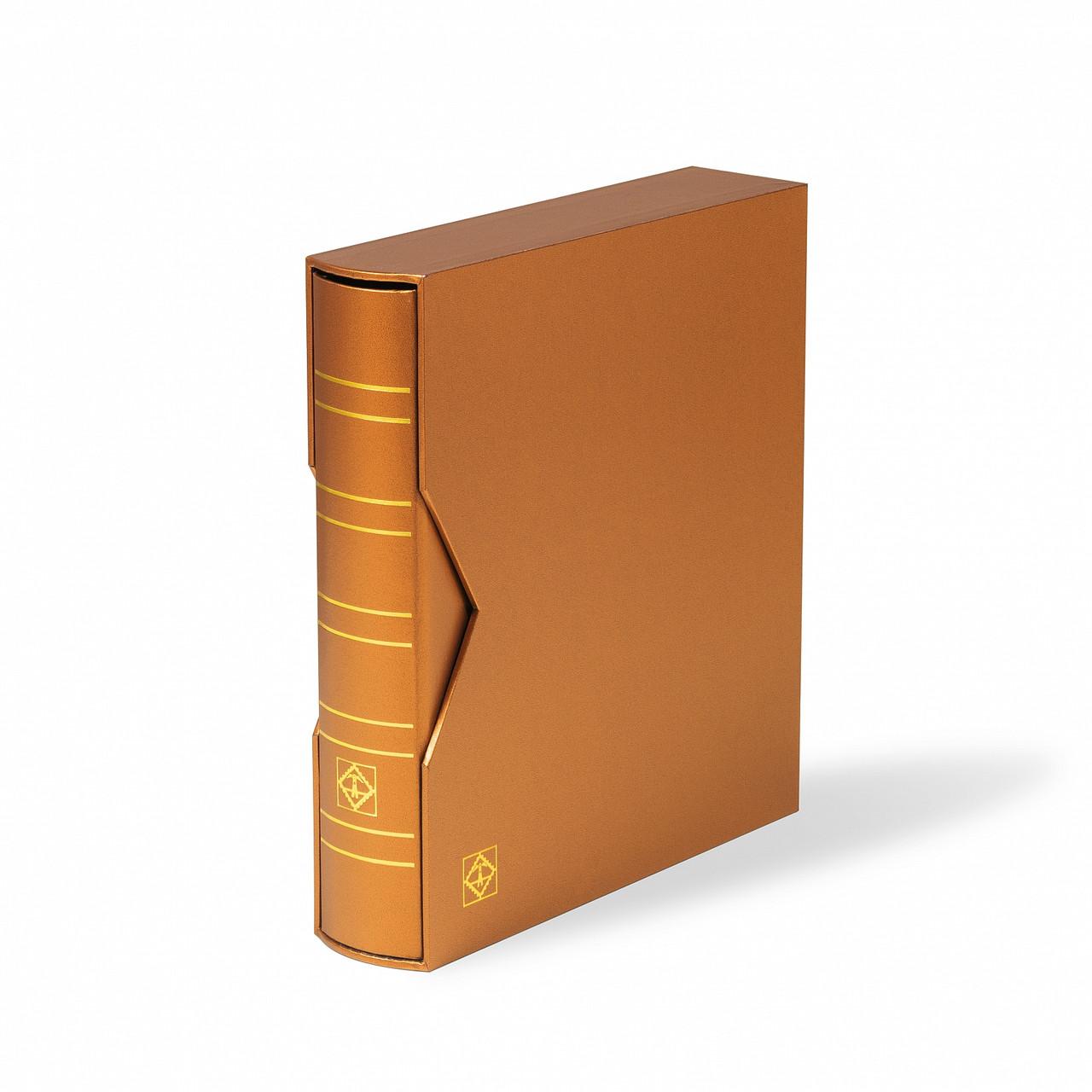 Альбом Leuchtturm, OPTIMA METALLIC EDITION вместимостью (до 60 листов) для монет или банкнот, с