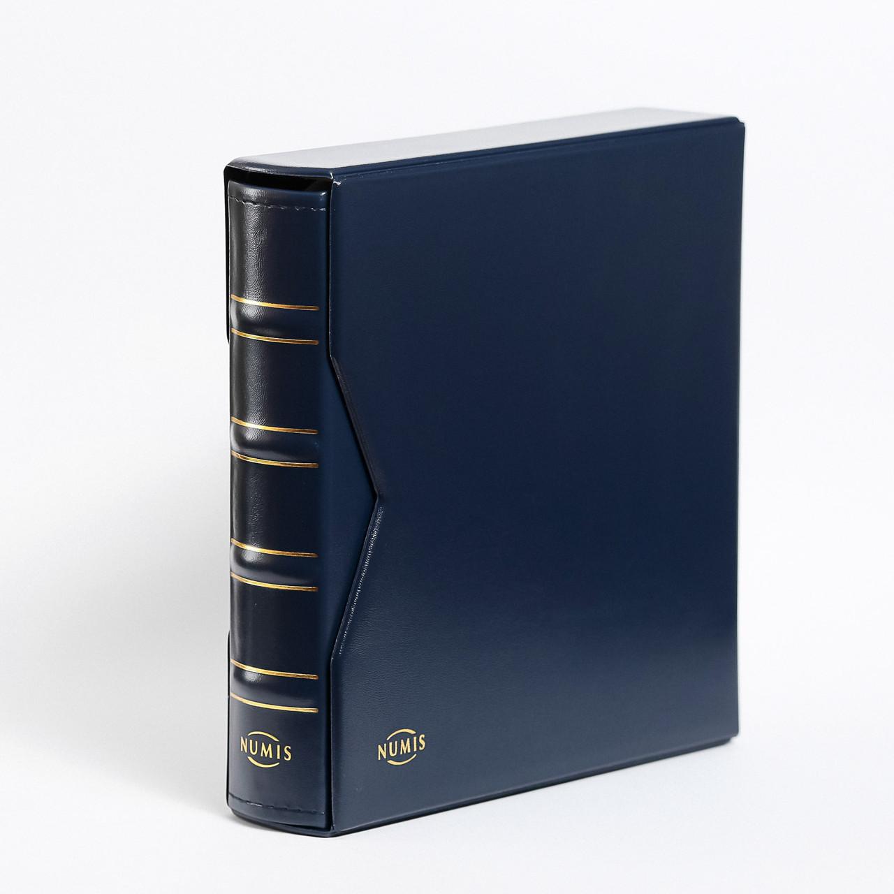 Альбом для банкнот Leuchtturm, NUMIS с футляром, (20 листов), синий
